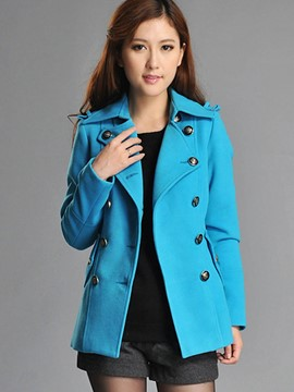Ericdress Double-Breasted Casual Coat