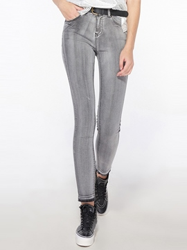 Ericdress Unique Straight Jeans