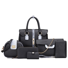 Ericdress Lastest Color Block Serpentine Handbag
