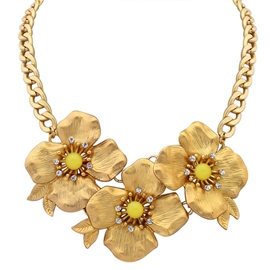 Ericdress Alloy Flowers Gold Chain Necklace