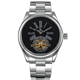 Ericdress Ancient Roman Scale Men's Automatic Mechanical Watch