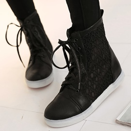 Ericdress Lace Patchwork Ankle Boots