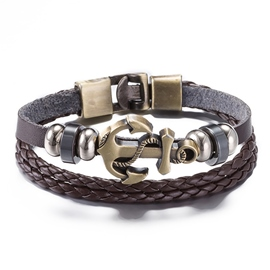 Ericdress Anchor Decorated Leather Bracelet