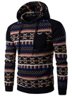 Ericdress Unique Patchwork Ethnic Style Casual Men's Hoodie