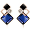Gem Diamond Geometry Earrings