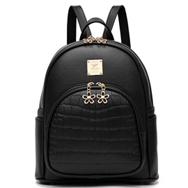 Ericdress Solid Color Thread Decorated Backpack