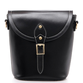 Ericdress Vintage Waxy Leather Bucket Crossbody Bag