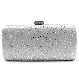 Ericdress Pure Color Diamante Evening Clutch