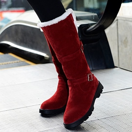 Ericdress Round Toe Buckles Snow Boots