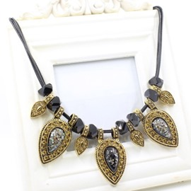 Ericdress Water Droplets Gems Necklace