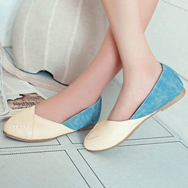 Ericdress Lovely Patchwork Round Toe Flats