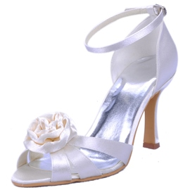 Ericdress 3D Floral Peep Toe Wedding Shoes