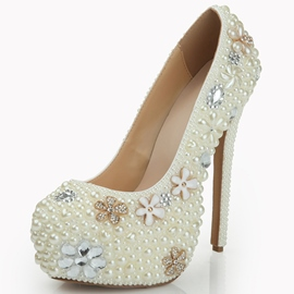 Ericdress Bead Rhinestone Platform Ultra-High Wedding Shoes