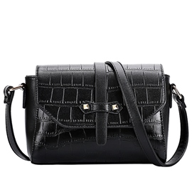 Ericdress English Style Croco-Embossed Crossbody Bag