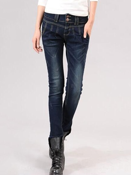 Ericdress Unique Zipper Decoration Jeans