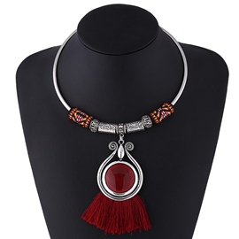 Ericdress Ethnic Style Tassel Necklace