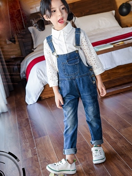 Ericdress Lace Hollow Suspenders Worn Two-Piece Girls Outfit