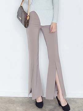 Ericdress Simple Split Flared Pants