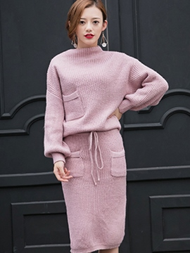 Ericdress Simple Knitwear Suit