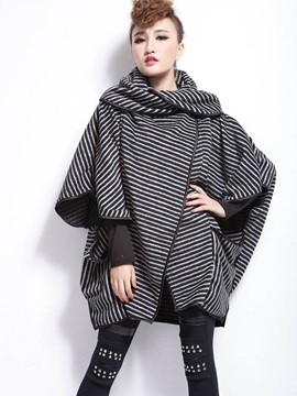 Ericdress Loose Casual Stripped Heap Cape
