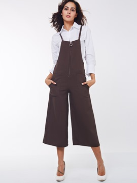 Ericdress Fashion Unique Suspender Pants