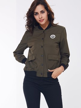 Ericdress Army Green Casual Jacket