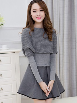 Ericdress Sweet Knitwear Suit