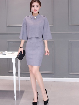 Ericdress Unique Elegant Column Skirt Suit