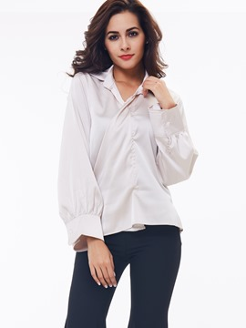 Ericdress Wrap Front Plain Blouse