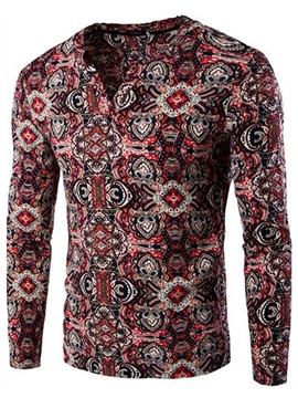 Ericdress Ethnic Style Print Casual Men's T-Shirt