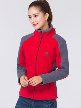 Ericdress Loose Sport Color Block Hoodie