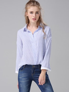 Ericdress Fine Strip OL Blouse