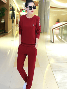 Ericdress Solid Color Simple Sports Suit