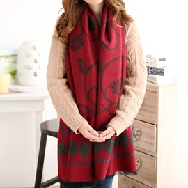 Ericdress Soft Knitted Warm Shawl Scarf