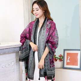 Ericdress Ethnic Style Printed Shawl Scarf