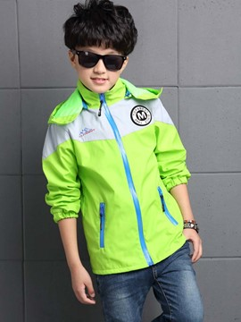 Ericdress Color Block Letter Printing Removable Hat Boys Outerwear