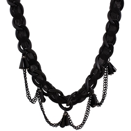 Ericdress Black Metal Chain Necklace