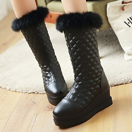 Ericdress New Warm Mid Calf Snow Boots