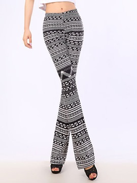 Ericdress Slim Print Casual Pants