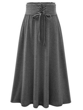 Ericdress Casual Lace-Up Usual Skirt