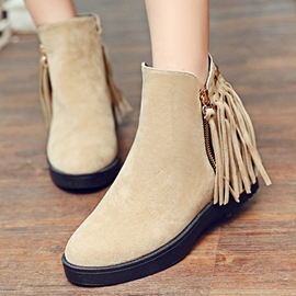Ericdress Suede Tassels Ankle Boots