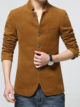 Ericdress Plain Single-Breasted Vogue Woolen Slim Men's Blazer