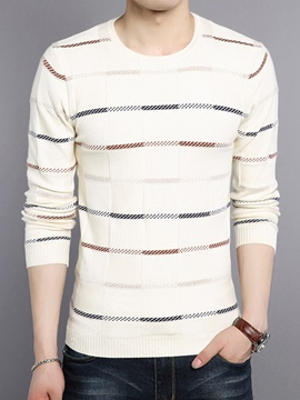 Ericdress Crew Neck Vogue Slim Men's Sweater