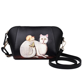 Ericdress Personality Cat Airbrushed Crossbody Bag