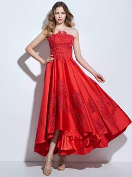 Ericdress A-Line Scoop Appliques Ankle-Length Prom Dress