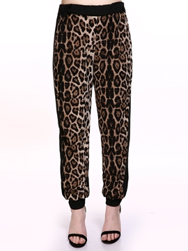 Ericdress Leopard Casual Pants
