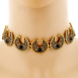 Ericdress Turquoise Inlaid Alloy Necklace