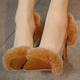 Ericdress Charming Furry Point Toe Pumps