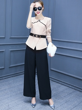 Ericdress Fashion Color Block Suit
