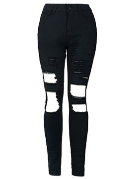 Ericdress Unique Skinny Hole Denim Jeans